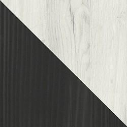 dąb craft biały + sosna norweska czarna