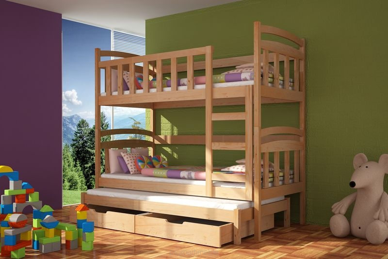 Bunk Bed Damian With Mattresses Bunk Bed Storage